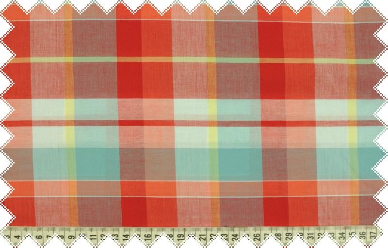 Červeno-modré košilové káro, š.150 cm