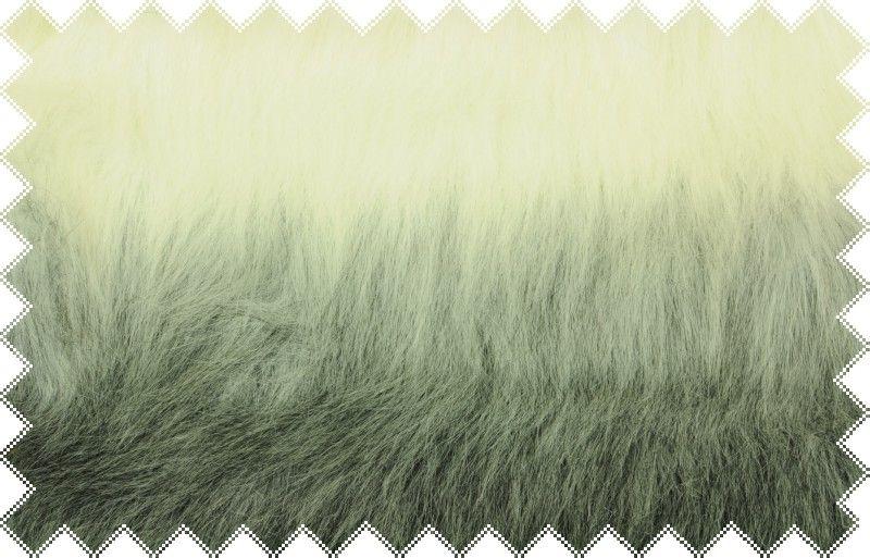 Bílo -černá duhová exkluzivní italská kožešina s vlasem cca 6 cm, š. 150 cm