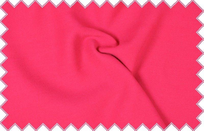 Jasně růžová vlněná elastická kabátovka, š.110 cm