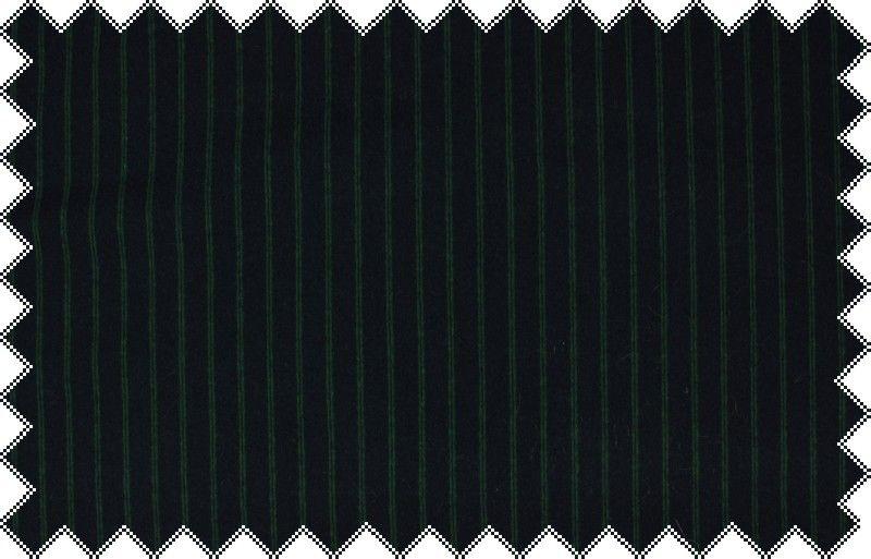Tmavě modrý pevnější elastický úplet se zelenou proužkou, š.150 cm
