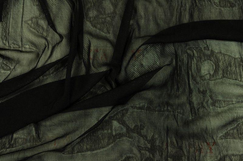 Černá úpletová elastická podšívka, š.170 cm