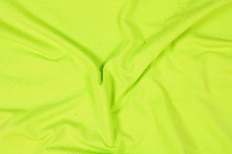 Jasně zelený tričkový elastický úplet š.155 cm