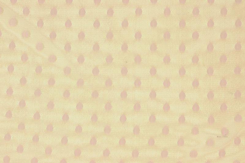 Staro-růžový elastický tyl s puntíčky, š.160 cm