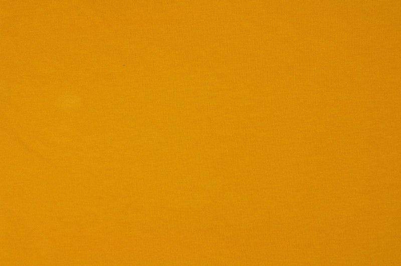 Žlutá elastická slabší teplákovina, š.160 cm