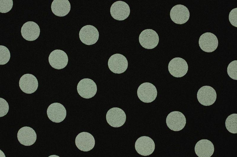 Černá zimní látka se šedým puntíkem, š.160 cm
