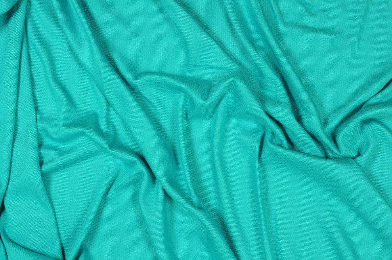 Tyrkysová slabší teplákovina,š.180 cm