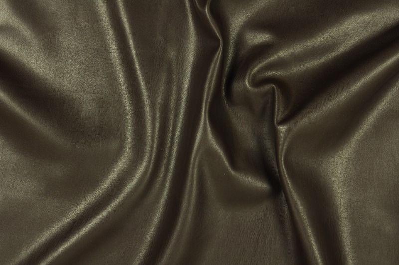 Tmavě hnědá elastická koženka, š.150 cm