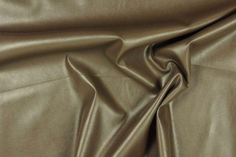 Šedo- hnědá elastická koženka, š.145 cm