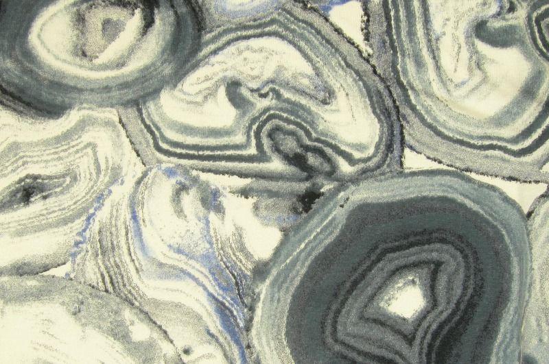 Modro-šedý úplet se vzorem, š.150 cm