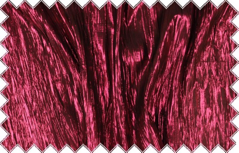 Tmavě růžová krešovaná tkanina s vysokým leskem