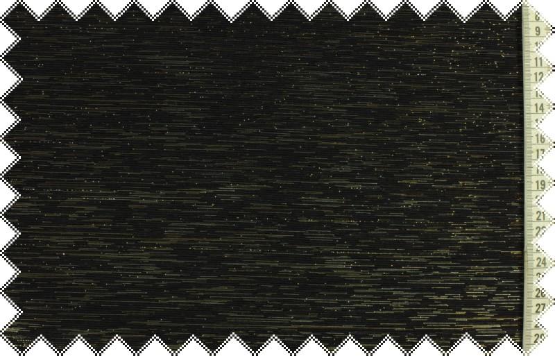 Černá tkanina se stříbrným lurexem