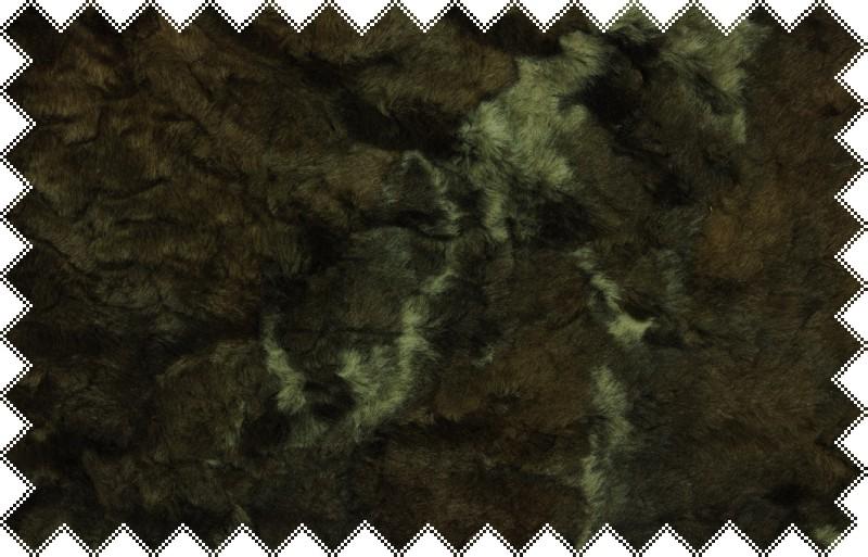 Hnědá exklusivní italská kožešina s černou podsadou a vlasem cca 3cm -skladem posledních 0,85 m