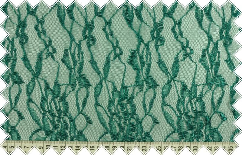 Zelená pružná krajka,oba okraje obloučky