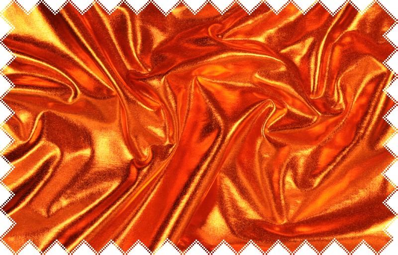 Oranžový lesklý jemný elastický úplet