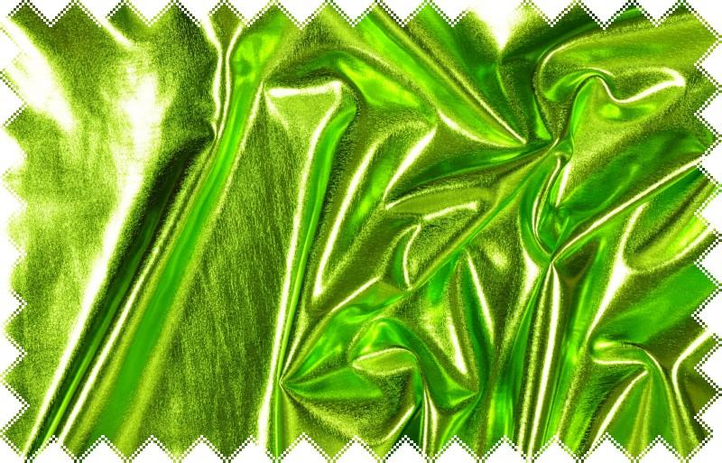 Jasně zelený lesklý jemný elastický úplet - lakovka
