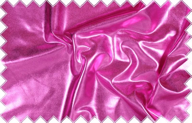 Růžový lesklý jemný elastický úplet - lakovka