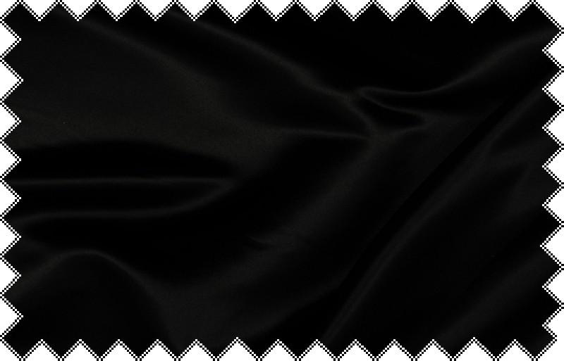 Černý silnější satén