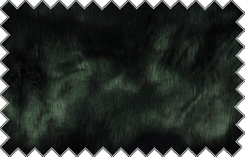 Šedo-zelená exkluzivní italská kožešina s vlasem cca 4 cm