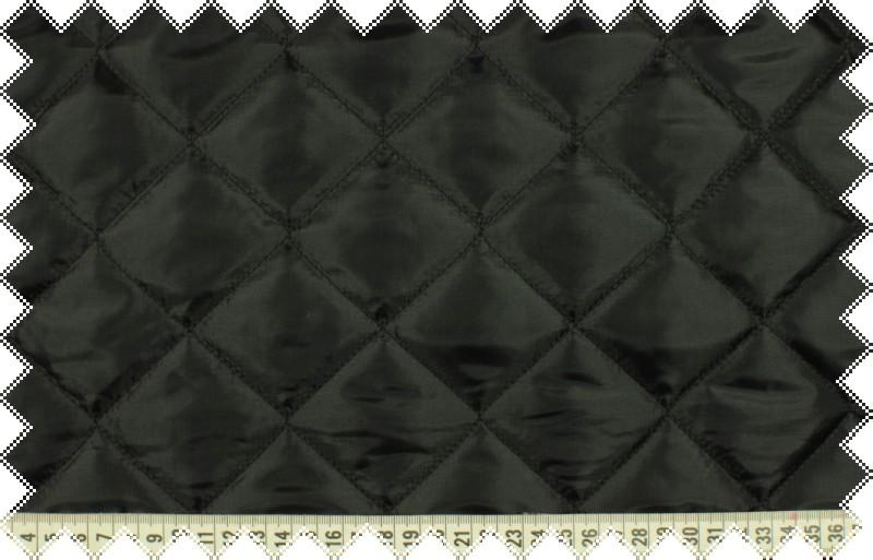 Černý podšívkový silnější prošev, kosočverce 5x5 cm