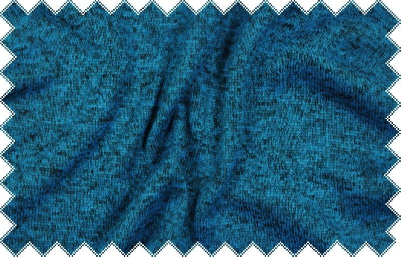 Tmavě tyrkysová melírovaná svetrovina