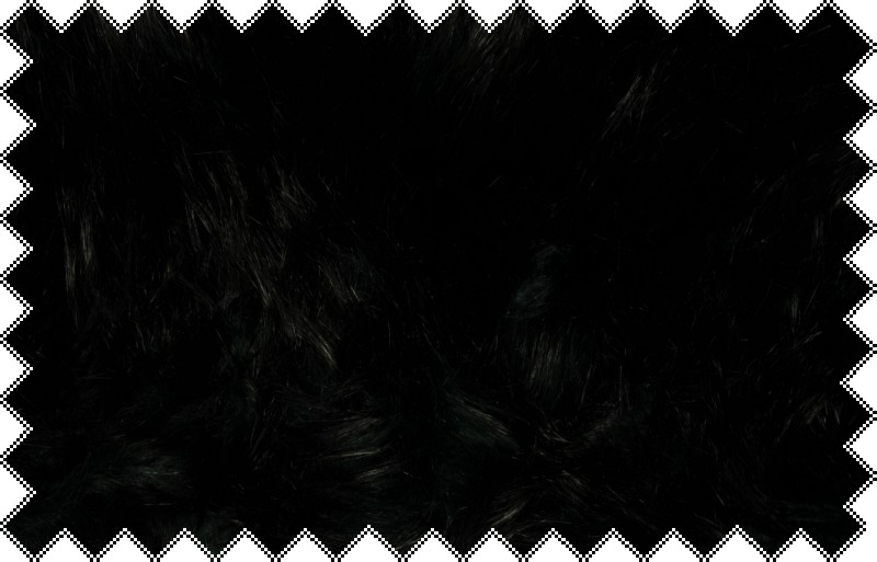 Černá exkluzivní italská kožešina s tmavě zelenou podsadou s vlasem cca 7 cm