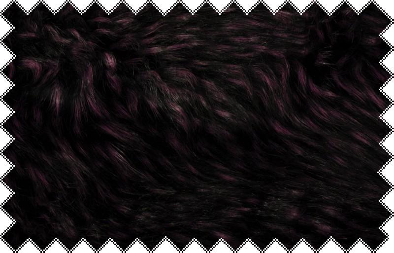 Fialová exkluzivní žíhaná italská kožešina s vlasem cca 7 cm