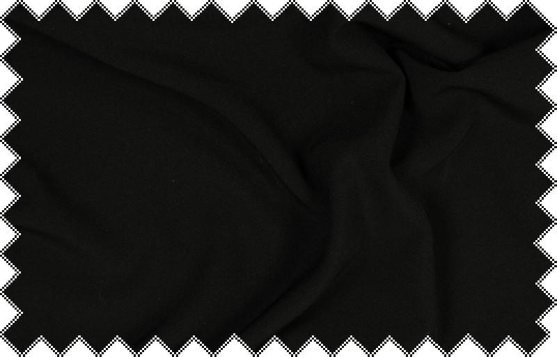 Černá kalhotovka, oblekovka s elastanem, š.140 cm