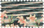 Modro-šedý panelový úplet s růžovými květy, š. 170 cm